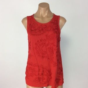 Red lucky Brand Top